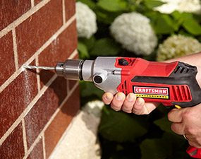 Hammer drills are perfect for drilling into mortar, masonry and concrete blocks.
