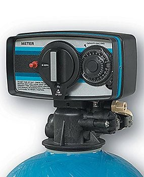 A water softener repair for a Fleck control head uses different parts.