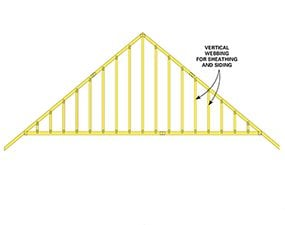 Gable-end trusses make framing the garage easier