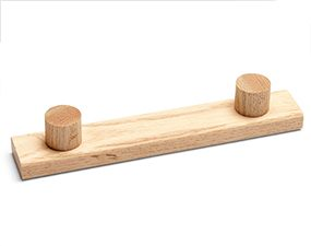 Use dowels and 1 x 2s to build the handles for the DIY garage storage drawers.
