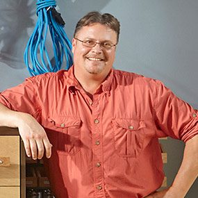 Mark Petersen is the designer of the DIY garage storage unit and author of this story.