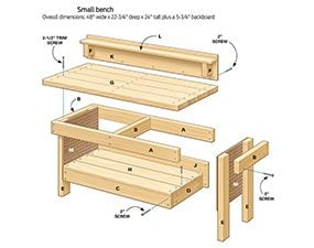 Figure A: Small Bench