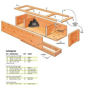 Patio pond diagram
