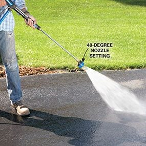 How to seal an asphalt driveway family handyman how to seal an asphalt driveway solutioingenieria Image collections