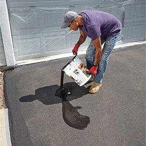 How to seal an asphalt driveway the family handyman how to seal an asphalt driveway solutioingenieria Image collections
