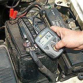 After you jump start a car, test the condition of the battery with a battery tester.