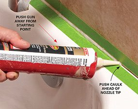 Apply The Caulk Bead. How To Caulk A Shower Part 80