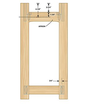 Figure C shows the front view of the Charles Rennie Mackintosh end table plans.