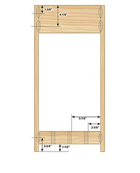 Figure C shows the side view of the Charles Rennie Mackintosh end table plans.