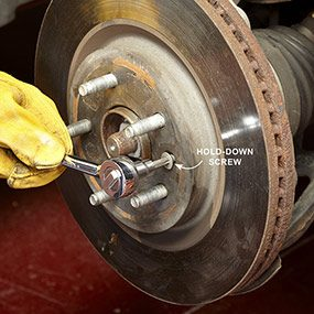 oak the screw holding the rotor with penetrant, then remove the brake rotor.