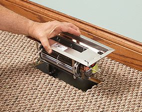 For a same size opening, simply install the duct booster fan in the opening.