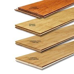 Types of bamboo flooring