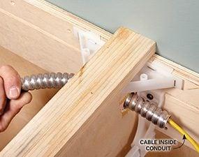 Slide the conduit into place