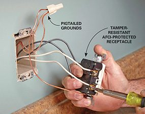 Install Electrical Outlet Above Existing Outlet:  Family Handymanrh:familyhandyman.com,Design
