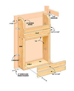 Figure A: Cabinet door rack