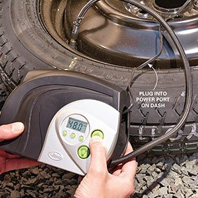 Pack a tire inflator