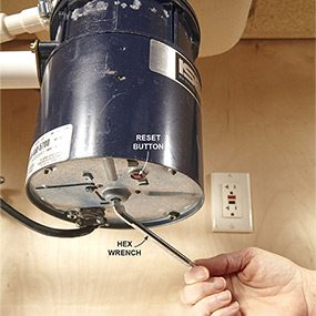 how to fix a broken garbage disposal