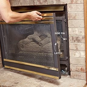 Many gas fireplaces use a blower to drive warm air out into the room. They also have a fan speed adjustment switch so you can strike a balance between blowe