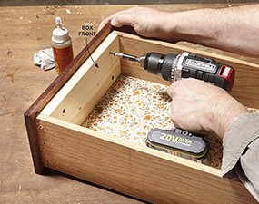 Reinforce the drawer front