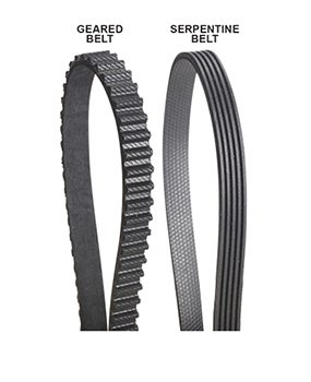 Avoid flat rubber drive belts
