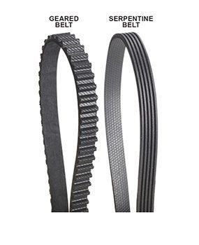 Avoid flat rubber drive belts