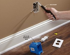 Cut out the existing outlet box