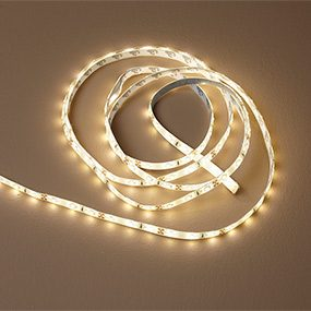 Plug-in LED strip lighting