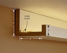 How to install elegant cove lighting family handyman a simple cove valence style aloadofball Choice Image