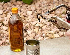Blacken screw hooks with oil