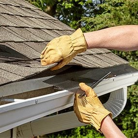 The best leaf guard gutters for your home family handyman slide under the shingles solutioingenieria Choice Image