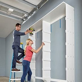 Wire Shelving & Melamine Garage Storage Plans