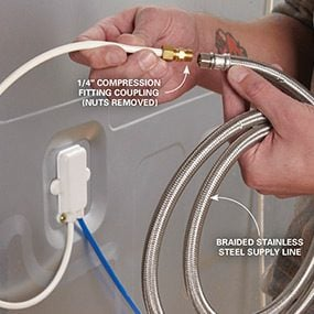 Use a braided stainless supply line