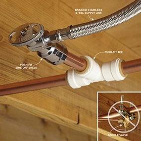 Don't use a saddle valve