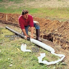 Install the Pipe in a Trench