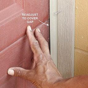 Readjust to accommodate door movement