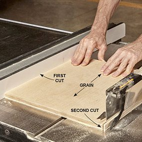 Cut twice for a perfect edge