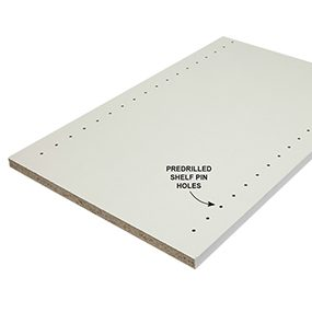 Predrilled panels save you time