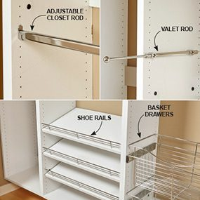 Delightful Build Your Own Melamine Closet Organizer