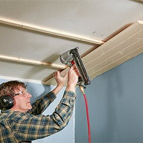 How to Install a Tongue and Groove Ceiling