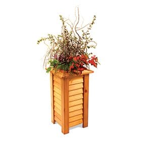 Lap siding planter