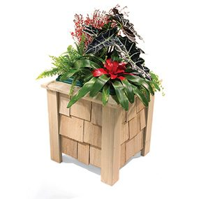 Cedar shingle planter