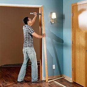 Remove the old window and door trim