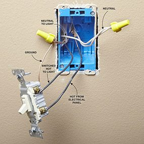 Install a CFL or LED Bulb Dimmer Switch | The Family Handyman