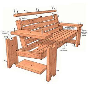 Figure A: Outdoor Sofa Plans