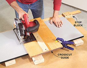 Photo 5: Crosscut the parts