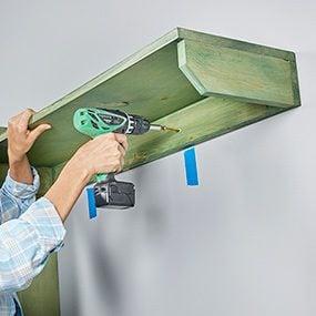 Photo 10: Install the coat-hook shelf