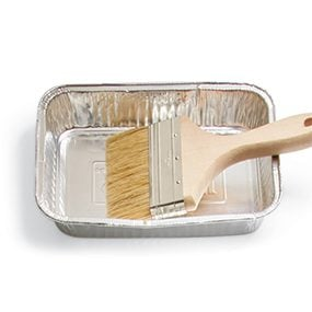 Metal container/Disposable brush