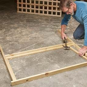 Build the lattice panel trellis
