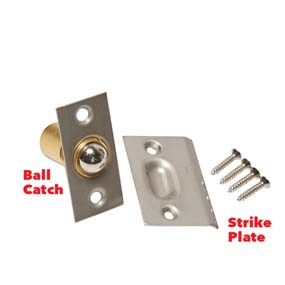 Ball catch and strike plate