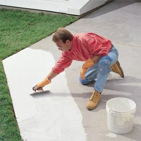 You may need crack isolation membrane when building a patio with ceramic tile.